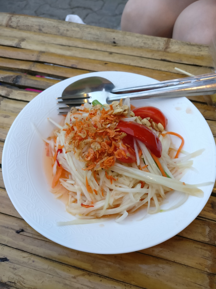 Chiang Mai Night Market Papaya Salat