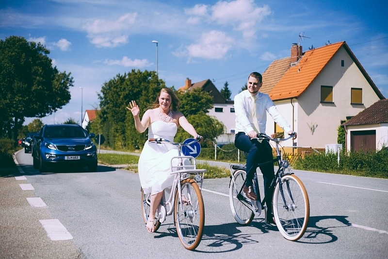 Hochzeit Fahrrad