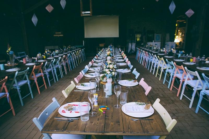 Scheunen Hochzeit Tafel