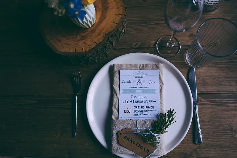 Scheunen Hochzeit Tisch Deko