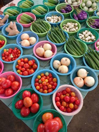 Chiang Mai Kochschule_Markt_Gemuese_Schalen