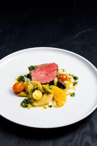 Roastbeef Sous Vide mit warmen Fenchel Salat