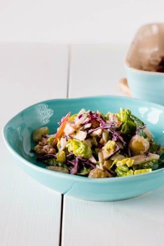 Waldorf Salat mit gebackenen Trauben