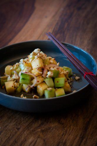Asiatisches Sommergericht: Ananas Gurken Salat