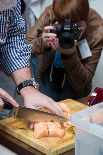 Lachs und Foodblogger