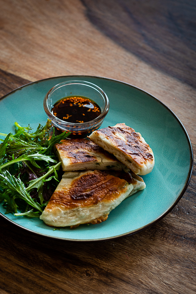 Chinesische Lauchzwiebel Pancakes